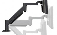Pneumatic arm for lcd monitor